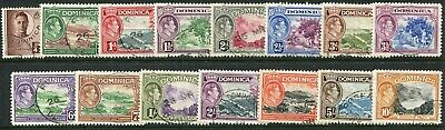 Dominica KGVI 1938-47 ¼d-10s SG 99-109 used (cat. £65)