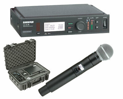 Shure ULXD4 Wireless Receiver + ULXD2/SM58 Microphone (Band H50) + SKB Case