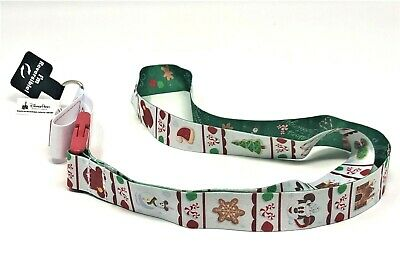 2019 Disney Parks Reversable Lanyard Holiday Christmas Mickey Disneyland Pepperm