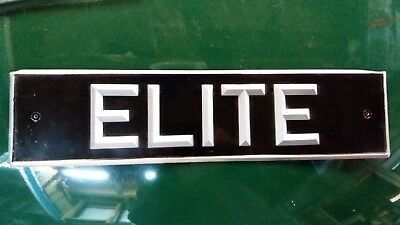 "Personnalized registration plate ""ELITE"" for LOTUS"