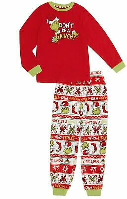 THE GRINCH Sz 5T UNISEX Toddler Pajamas Boys/Girls Holiday Christmas PJS NEW