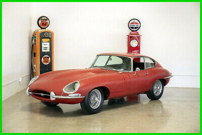 "1966 Jaguar E-Type 4.2 liter Series 1 Coupe ""GARAGE FIND"" 1966 ETYPE S1 4.2 LITER COUPE #MATCH EXCELLENT GAPS SOLID RED/BLK"
