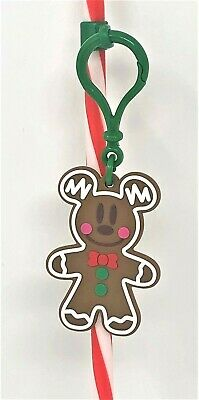 Disney Parks Disneyland 2019 Mickey Gingerbread Straw Clip Very Merry Christmas