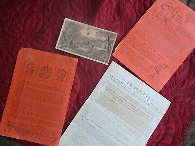 1800's (4) QUACK Medical devices,Trade Card,Druggist handbill,broadside,pic lot!