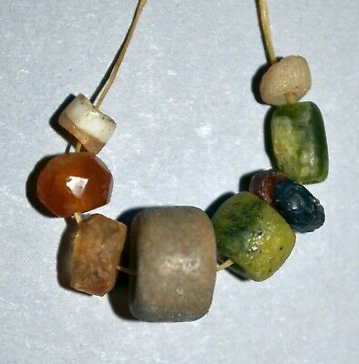 Rare Ancient Stone Excavated Dig Beads Afghanistan Trade Circa 1000 Years Old