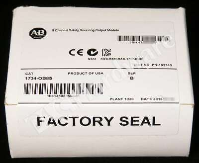 New Sealed Allen Bradley 1734-OB8S Series B POINT I/O 8-Channel Safety Output
