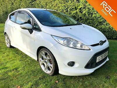 2011 FORD FIESTA 120 Zetec S Full Black Heated Leather with FSH in Frozen White