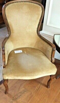 Gold Parlor Chair