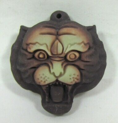 China Exquisite Hand-carved Tiger head carving natural jade Pendant-1.07""