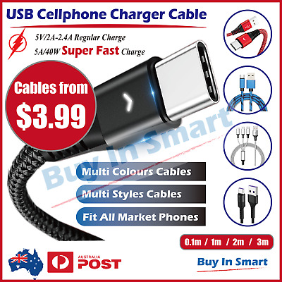 iPhone iPad Ipod Lightning USB  Cable Cord Data Sync Charger  6 X 8 7 5 Air Pro