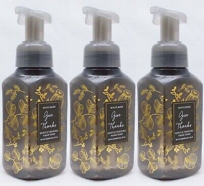3 Bath & Body Works GIVE THANKS Gentle Foaming Hand Soap Wash 8.75 oz