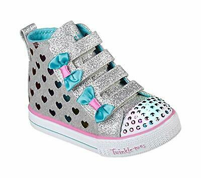Skechers Kids Girls' Shuffle LITE-Fancy Flutters Sneaker, 10 Medium US Toddler
