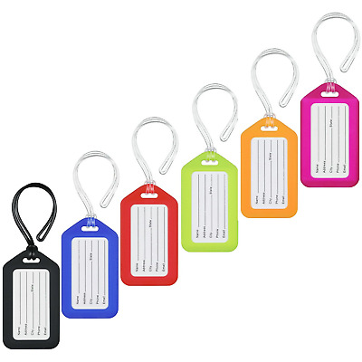 MIFFLIN Luggage Tags Assorted, 6 PK, Bag Tag for Baggage, Suitcase Tags Bulk
