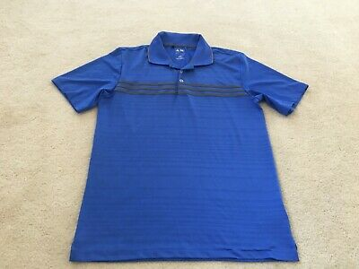 Mens size small ADIDAS Puremotion Blue & Gray golf polo shirt short sleeve
