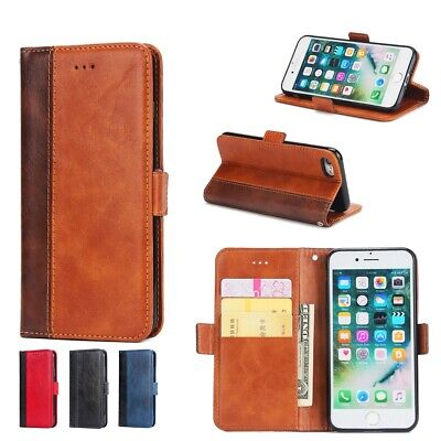 Vintage Business Wallet Flip Leather Case Stand For iPhone 5 5s SE 6 6s 7 8 Plus