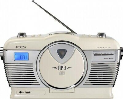 2 Stück Lenco Retro Radio CD/MP3 Ices ISCD-33 creamws Radios-Recorder Retro