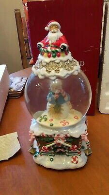 WATERFORD Crystal Holiday Christmas Musical Snowman Father Christmas Snow Globe