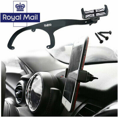 360°Rotation Car Phone Mount Cradle Holder Stand For Mini Cooper R55 R56 Gray Z3