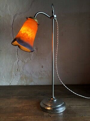 Antique French Art Deco / Nouveau Table Lamp Signed Shade. c1910