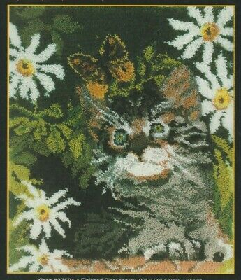 "Mcg Textiles Graph N' Latch Rugs Latch Hook Rug Chart ""Kitten"" 76 Cm X 91Cm"