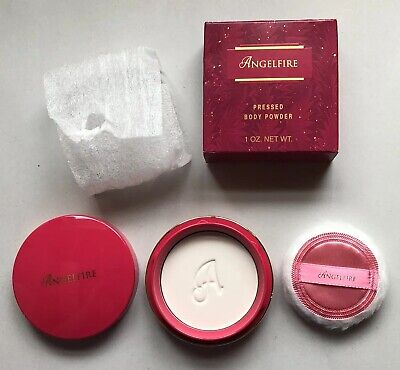 Mary Kay Angelfire Pressed Body Powder In Red Compact NOS Discontinued