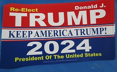 WHOLESALE LOT OF 10 KEEP AMERICA TRUMP 2024 STICKERS Great 2020 Campaign GOP USA
