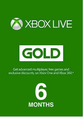 XBOX LIVE GOLD Europe 6 months