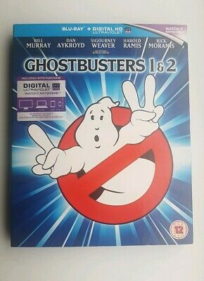 Ghostbusters 1 & 2 - 2 Disc Uk Blu-Ray With Digital Codes Mastered In 4K Comedy