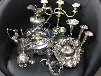 Job Lot Nice Antique Vintage Silver/Chrome Plated EPNS Items Approx 4.5kg
