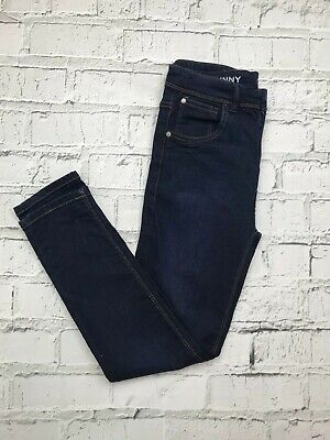 NEXT Dark Blue Washed Slim Skinny Leg Denim Jeans Age 13 Years Plus