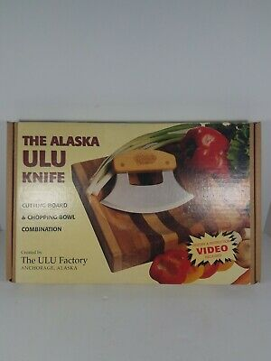Vintage Alaska Ulu Knife Cutting Board And Chopping Bowl Combo Vhs Instructions