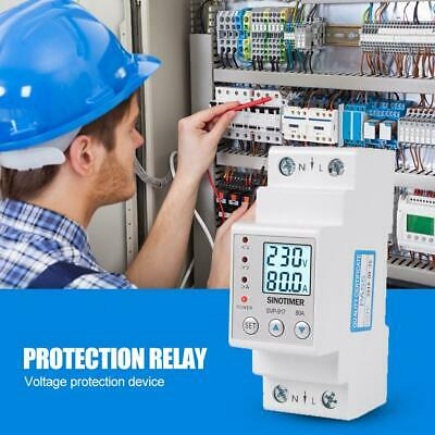Din Rail Adjustable Over Under Voltage Protective Device Protector Relay