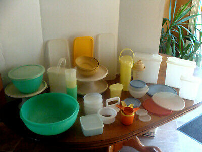 Large Lot Of Vtg Tupperware - Over 35 Pieces - Euc