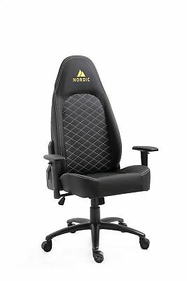 Nordic Premium Gaming Computer Chair Office Chair Gamer Chair Racing, Black