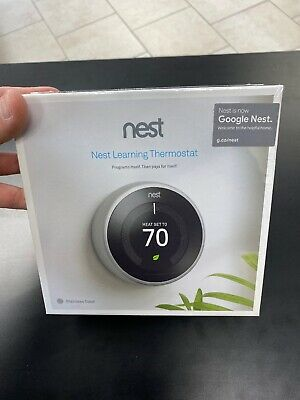 New Nest Learning Thermostat 3rd Gen. Stainless Steel T3007ES