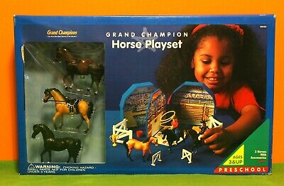 Grand Champions - Horse Playset - Preschool Set (Horses And Accessories. Sealed.