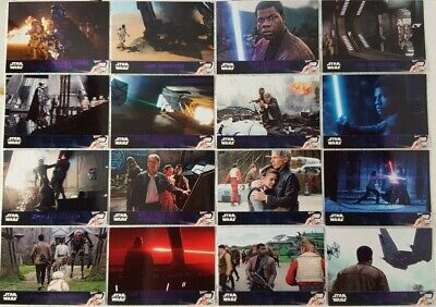 2016 Star Wars THE FORCE AWAKENS Purple Parallel Card Lot of 16 SERIES 2