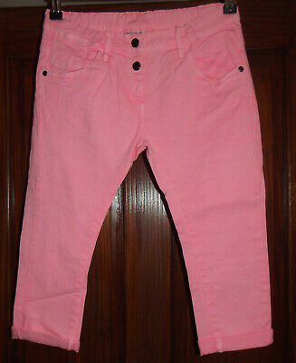 Girls Pink Cropped Jeans Age 11 - 12 Years BNWT