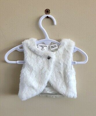 Baby Baby | White Girls Vest | Sz Newborn 0000