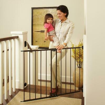 Baby Safety Gate Door Walk Through Pet Indoor Dog Fence Lock Extra Wide Tall