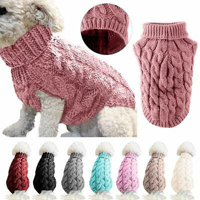 Pet Cat Dog Sweater Warm Dog Coat Jumpers Hoodie Cat Clothes for Puppy Small UK