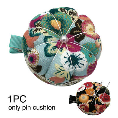DIY Cotton Blend Lightweight With Clip Pumpkin Shape Sewing Needles Pin Cushion
