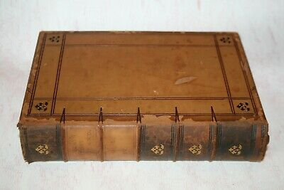 Antique 1855 Leather Bound Book Macaulays History of England Vol:VI Library Prop