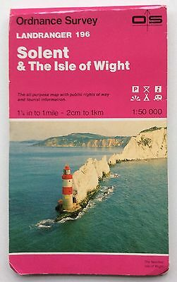 Ordnance Survey Landranger Map Solent & The Isle of Wight Sheet No.196 1:50,000
