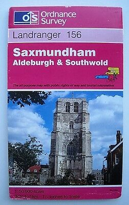 Ordnance Survey Map Landranger Series Saxmundham Aldeburgh Sheet No.156
