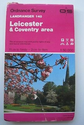 Ordnance Survey Landranger Map Leicester & Coventry area Sheet No.140 1:50,000