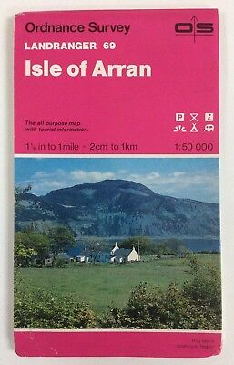 Ordnance Survey Landranger Map Isle of Arran Sheet No.69 1:50,000