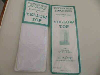 2 pairs of ladies stockings new in pack colour white by yellow top