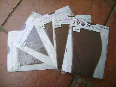 Aristoc Shareen Stockings Seam Free FIVE PAIRS  ILLUSION 8 1/2 TO 9