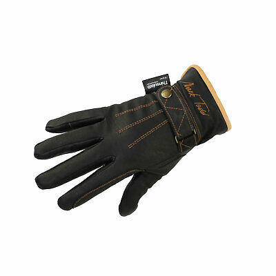 Mark Todd Winter Leather Riding Gloves With Thinsulate Brown